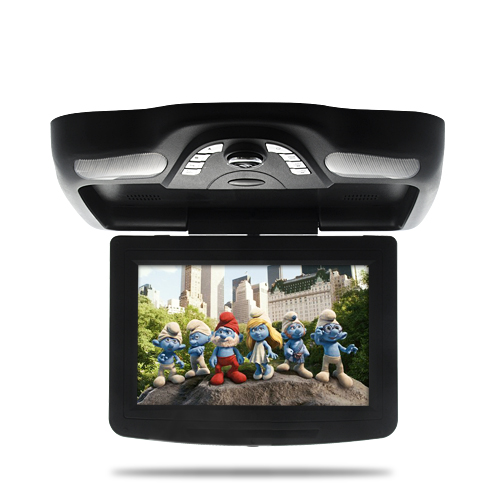 10.2 Inch Roof-Mounted Car DVD Player with IR Headphones - Flip Down LCD Monitor (Black)
