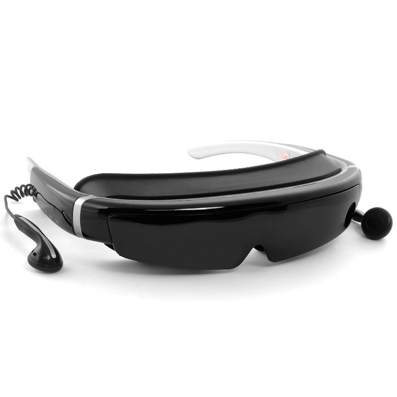 3D Virtual Screen Video Glasses - 98 Inch Virtual Screen, 16:9, FHD 1080p, Built-in 8GB Flash Memory, AV In