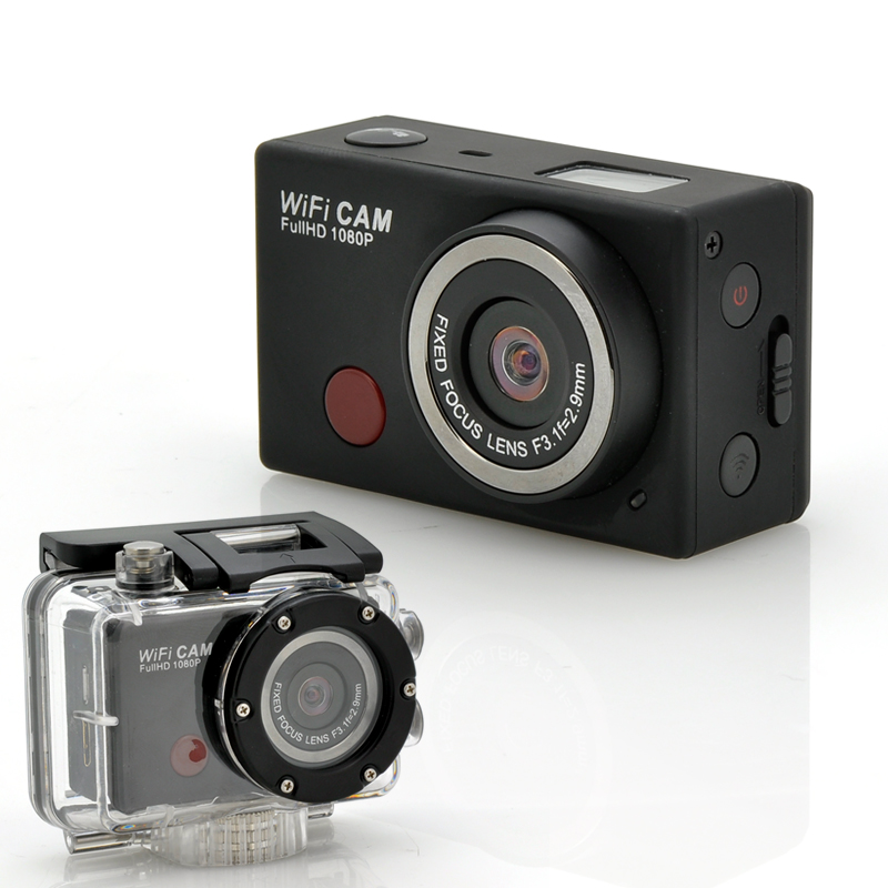 Wi-Fi Sports Camera 'SportsCam' - With Remote Control, Full HD 1080p, 5 Megapixels CMOS Sensor, Waterproof