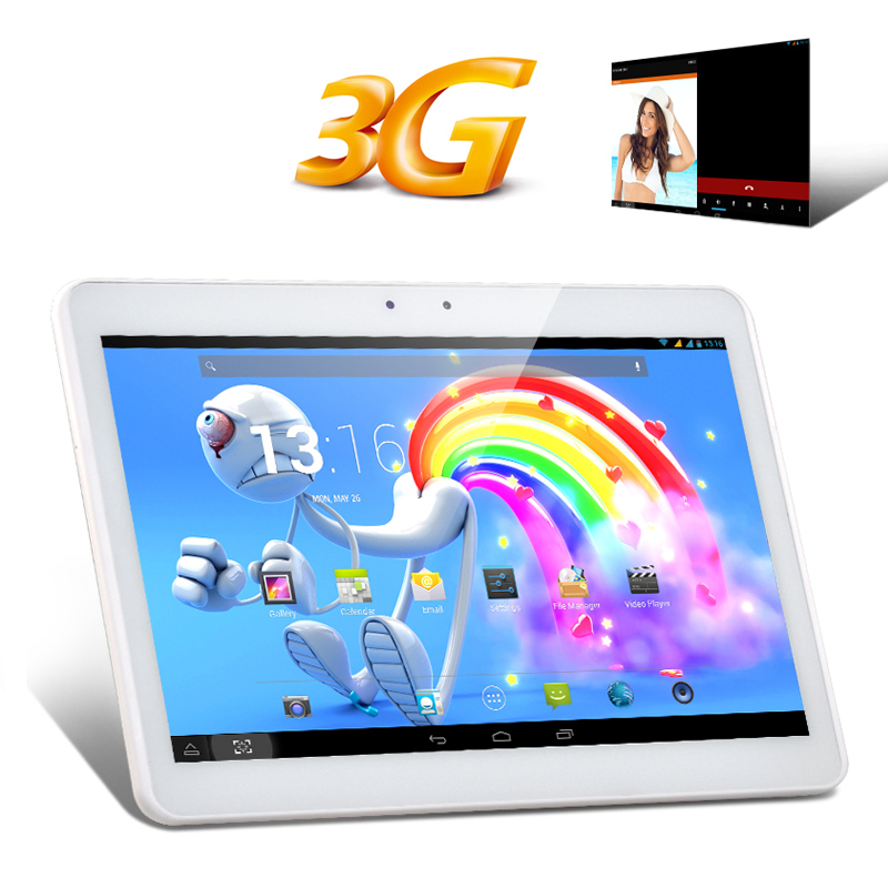 10.1 Inch IPS 3G Tablet PC - MTK8382 Quad Core CPU, 1GB RAM, Android 4.2 OS, 2x SIM Card Slots (White)