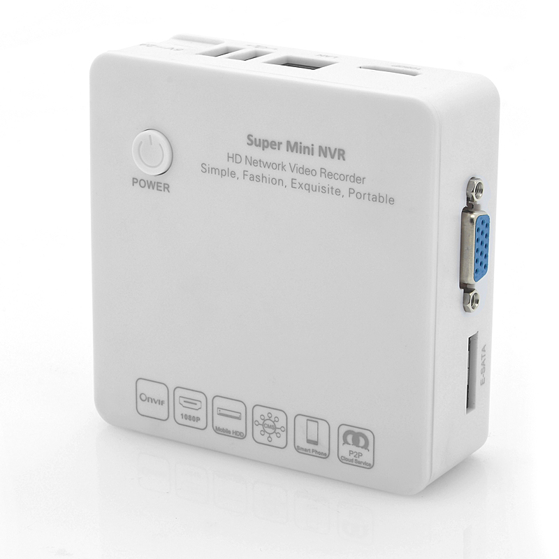 4 Channel HD Mini NVR 'Box-Watch' - 1080p/960p/720p, E-SATA HDD Connection, ONVIF, Cloud P2P