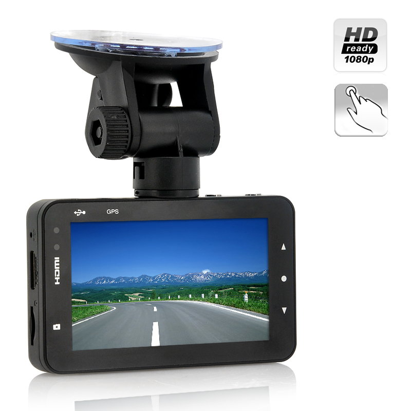 3.0 Inch Touch Screen Car DVR - 1080p Full HD, 170 Degree Viewing Angle, H.264, G-Sensor, Motion Detection