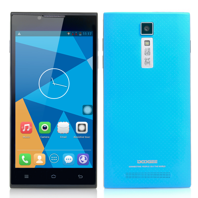 DOOGEE DG2014 Android Smartphone - MTK6582 Quad Core 1.3GHz CPU, 5 Inch IPS OGS 1280x720 Display (Blue)
