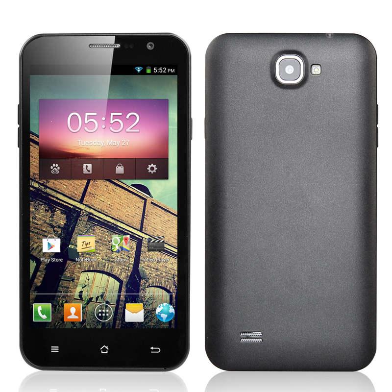 5.3 Inch MTK6589 Quad Core Android 4.2 Smartphone - 1.2GHz CPU, 3G, 4GB ROM, 1GB RAM, 2x SIM Ports, 2x Cameras (Grey)