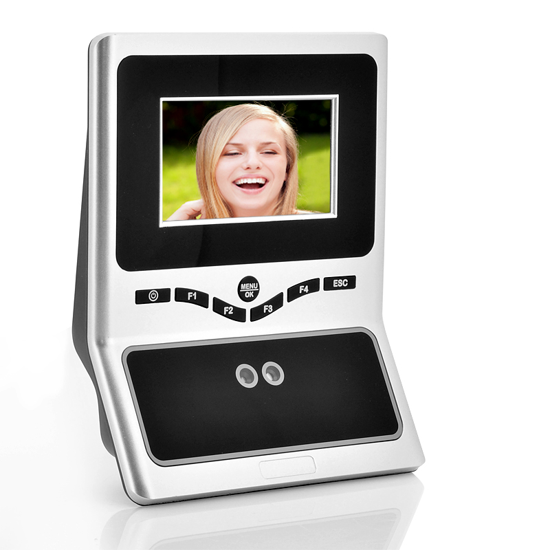 Face Recognition Time Attendance System - 4.5 Inch HVGA TFT Display, 200000 Transaction Capacity, USB Flash Drive Download