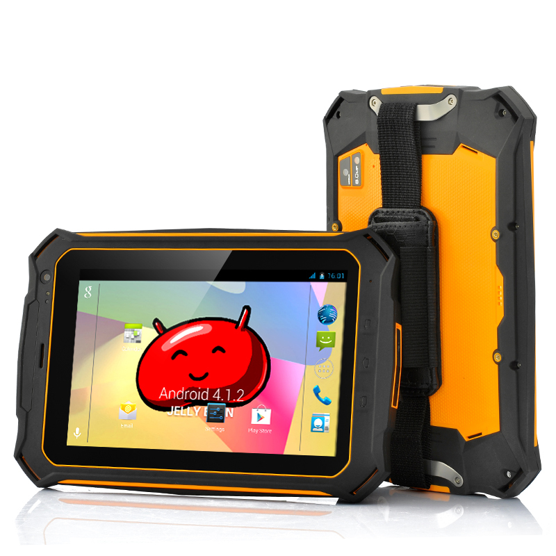 Rugged Quad Core Android Tablet - 7 Inch Gorilla Glass 2 Screen, IP67 Waterproof Rating, Shockproof + Dust Proof