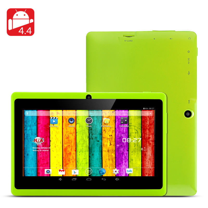 7 Inch Tablet 'Horus 8GB'- 1.5GHz Dual Core CPU, Android 4.4, Wi-Fi, Front + Rear Facing Camera, (Green)