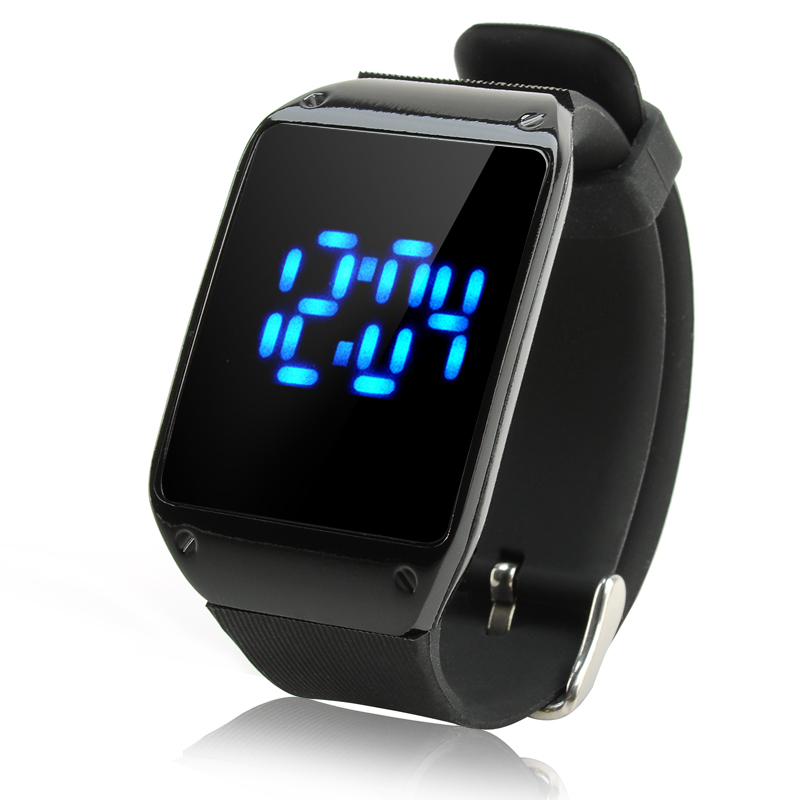 LED Touch Watch - Time + Date, With One Key Control, CR2016 Battery