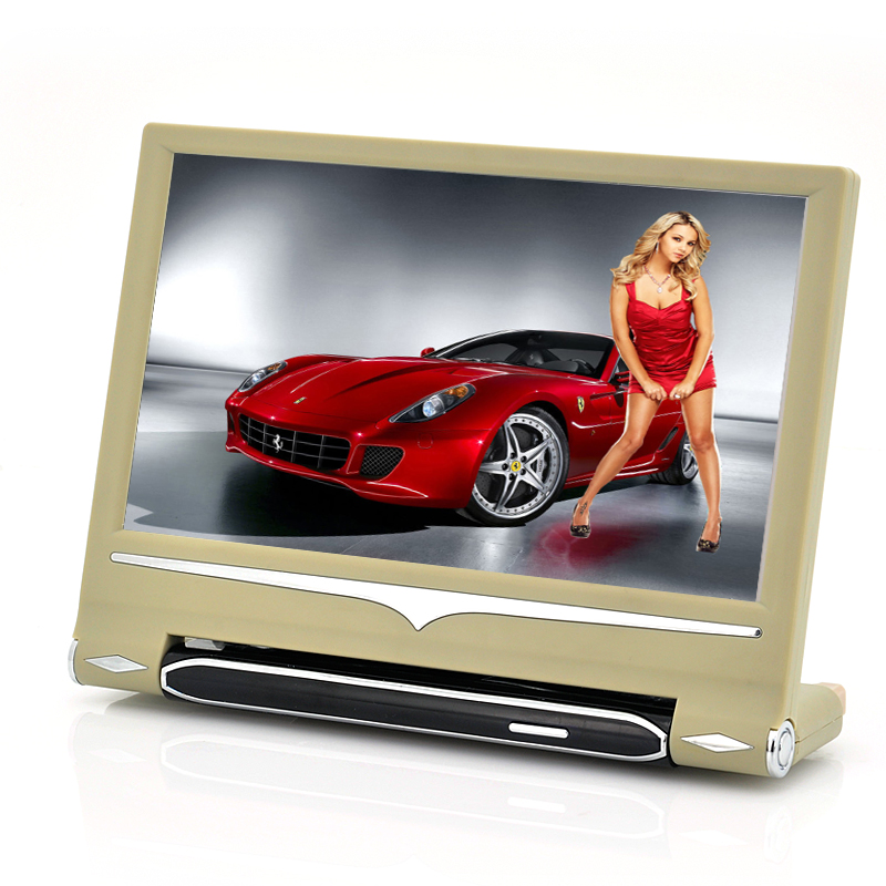 9 Inch Headrest Touch Screen Car Monitor - MP4 Player Function, 720p Input, Remote Control