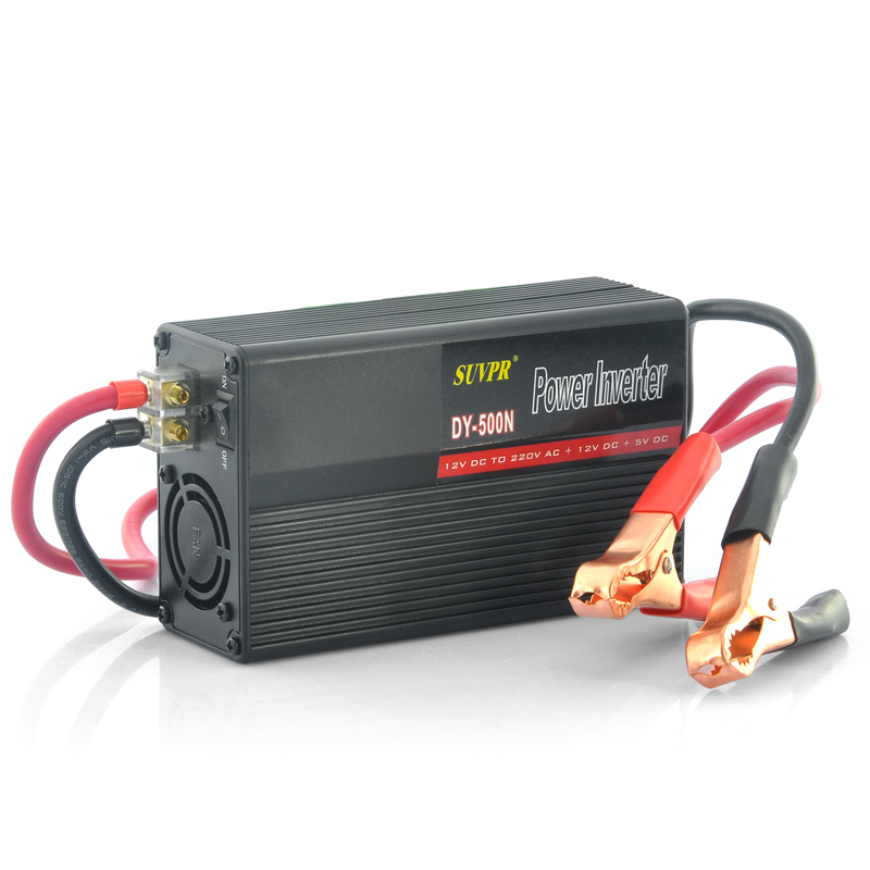 500W Power Inverter With Battery Cables - AC 220V Output