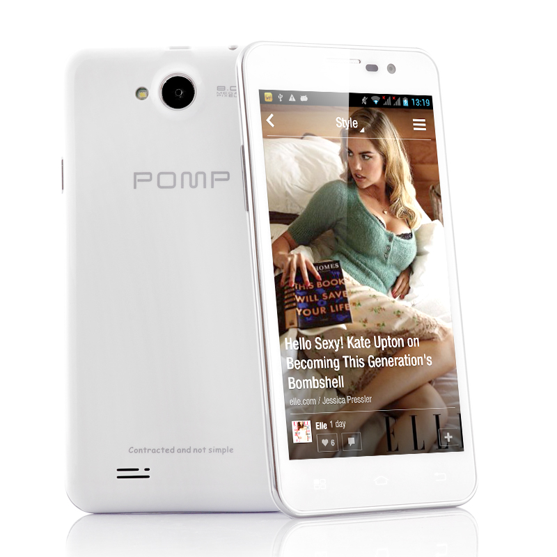 POMP W99 5 Inch Quad Core Android 4.2 Phone - 1.5GHz, 2GB RAM, 32GB Internal Memory (White)