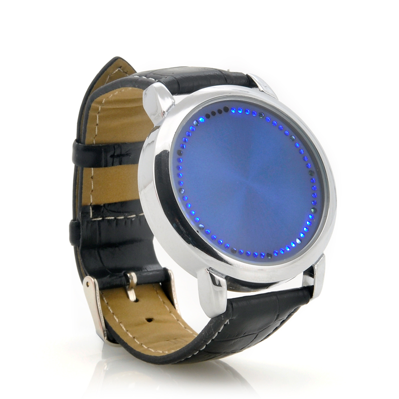 Blue LED Touch Screen Watch 'Abyss' - Hours + Minutes Display