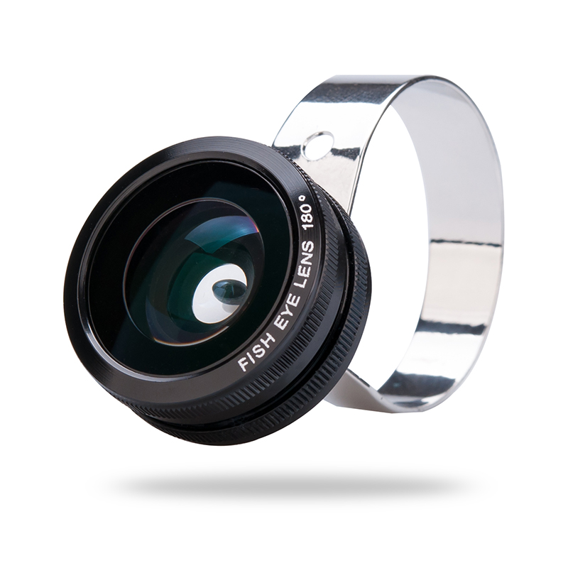 3 In 1 Camera Lens Kit - 180 Degree Fisheye Lens, 0.67x Wide Angle Lens, Macro Lens For Mobile Phones