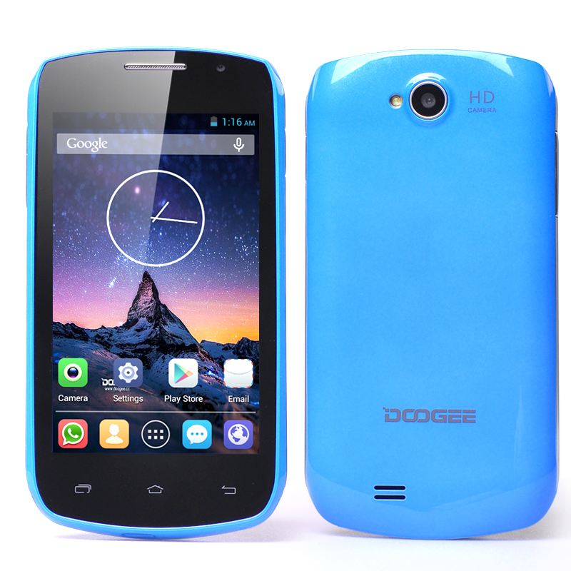 DOOGEE DG110 COLLO 3 Android Smartphone - Dual SIM, MTK6572 Dual Core 1.3GHz CPU, 800x480 IPS Capacitive Screen (Blue)