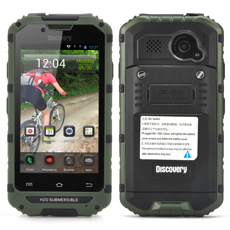 IP68 Rugged Android Smartphone - CDMA 3G, Waterproof, Dust Proof, 4 Inch Display, 8MP Rear Camera (Green)