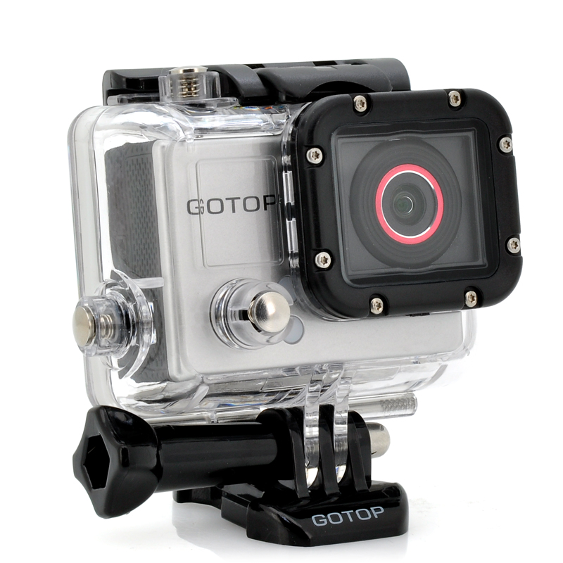 Full HD Sports Camera 'GOTOP' - 16MP, 1.5 Inch Screen, 120FPS, 140 Degree Wide Lens, 5 Mounting Accessories
