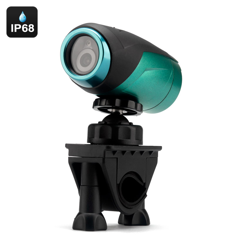 5 Megapixel 1080p Sports Camera - IP68 Waterproof Rating, 160 Degree Lens, Positioning Laser Light