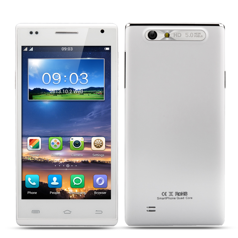 4.5 Inch Android 4.2 Quad Core Smartphone - IPS 960x540 Display, MTK6582 1.3GHz CPU, 5MP Rear Camera