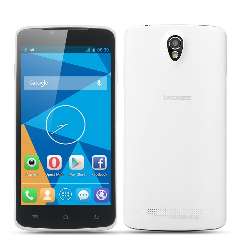 DOOGEE MINT DG330 Phone - MTK6582 Quad Core CPU, 5 Inch 854x480 IPS Capacitive Screen, 1GB RAM, 4GB ROM, Android 4.2 OS (White)