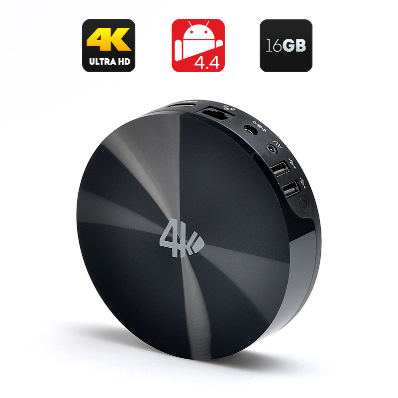 MBOX S82 16GB TV Box - Quad Core 2GHz CPU, UHD (4Kx2K) Decoding, 2GB RAM, Dual Wi-Fi Band, Android 4.4 OS