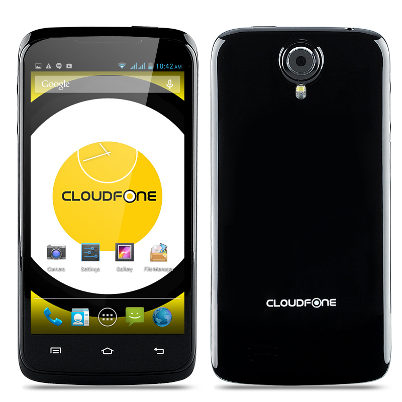 Cloudfone Excite 470q Phone - 4.7 Inch QHD 960x540, Android 4.2 OS, MTK6582 Quad Core CPU, 5MP Rear Camera (Black)