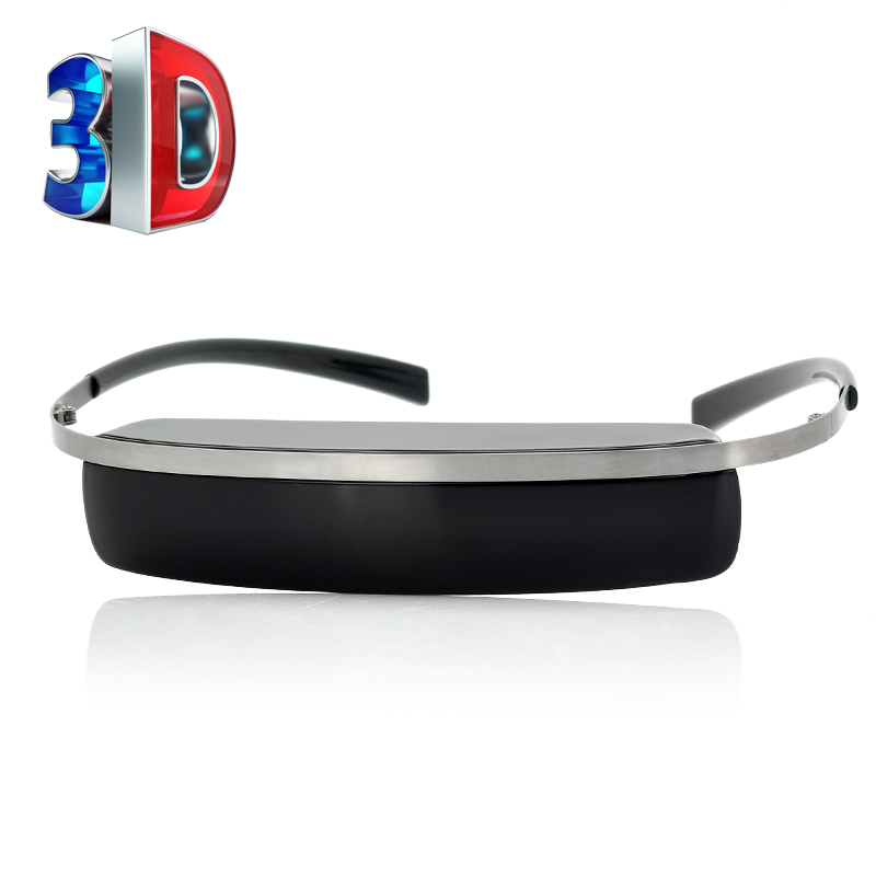 72 Inch 2D/3D Virtual Video Glasses - 432x240 Display, AV IN Function, Multiple Device Support