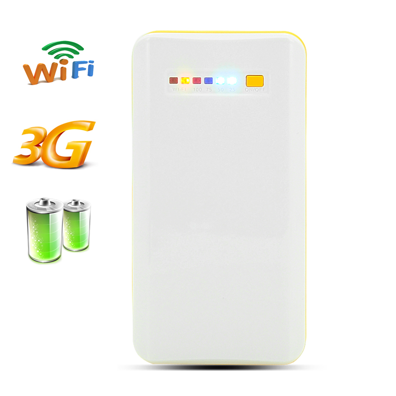 Portable 3G Wireless Wi-Fi Router + Powerbank - 7800mAh Capacity, NAS