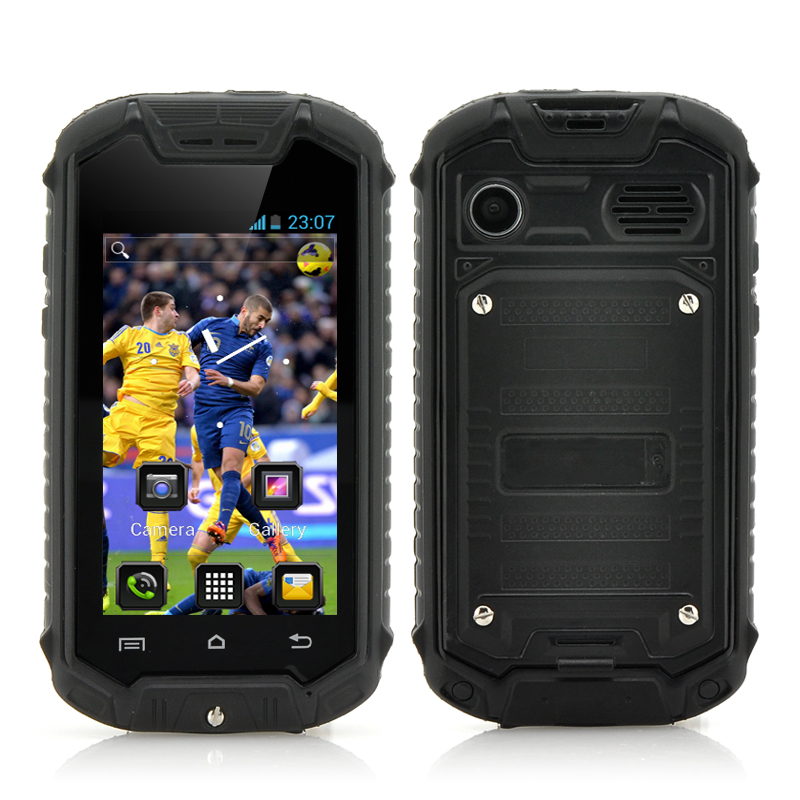 Mini Android Phone - 2.45 Inch Screen, IP53 Water Resistant Rating, 2 MP Rear Camera (Black)