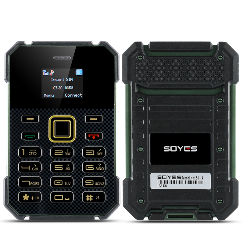 Soyes S1 Ultra Slim Bar Phone - Bluetooth, FM, MP3 Player (Green)