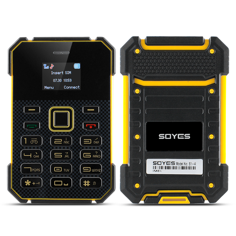 Soyes S1 Slim Bar Phone - MP3 Player, FM Radio, Bluetooth (Yellow)