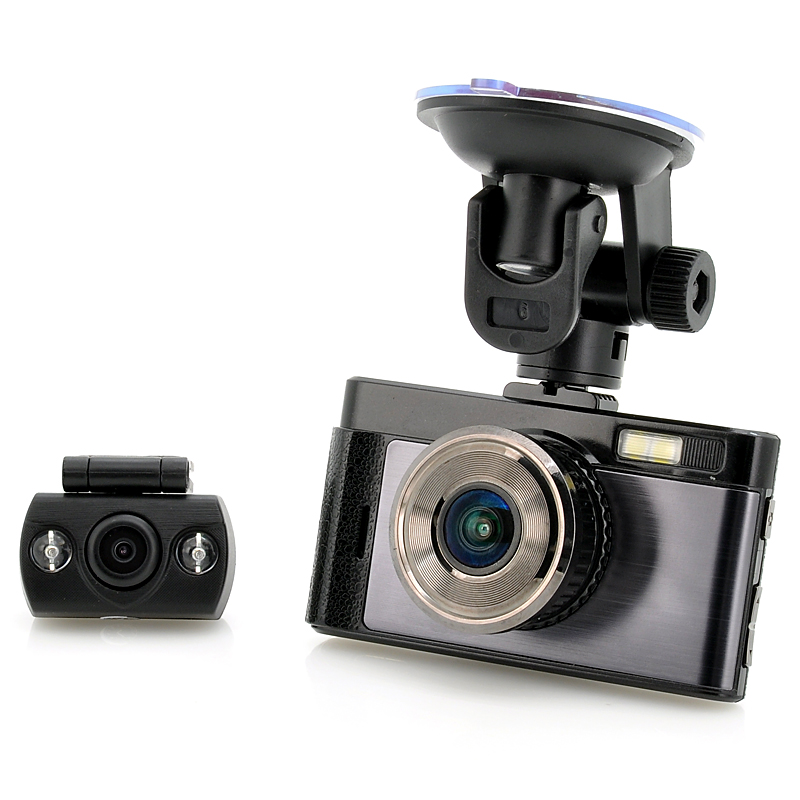 FHD Car DVR - 3 Inch TFT Screen, 140 Degree Angle, Rear View Camera, 32GB Micro SD Slot, 3MP CMOS