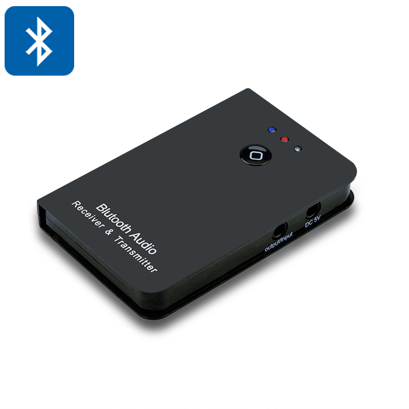 2 in 1 Bluetooth Stereo Audio Receiver + Transmitter - For Speakers, TV, Mobile Phone, MP3 Player
