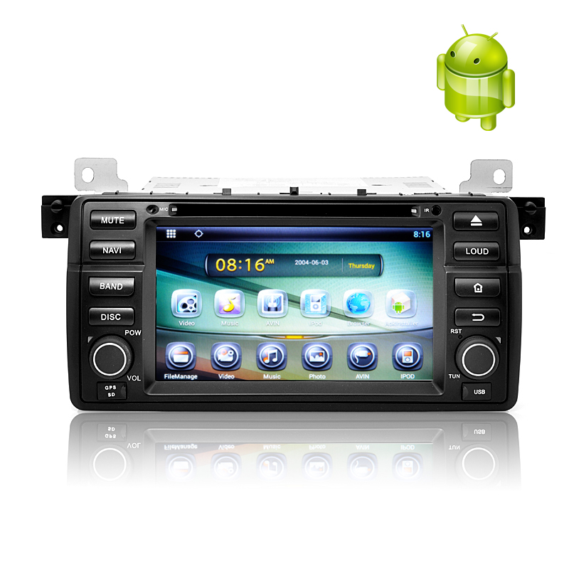 1 DIN Android 4.2 Car DVD Player for BMW E46 - 7 Inch Touch Screen, Rockchip Cortex A9 Dual Core CPU, GPS, 8GB Internal Memory