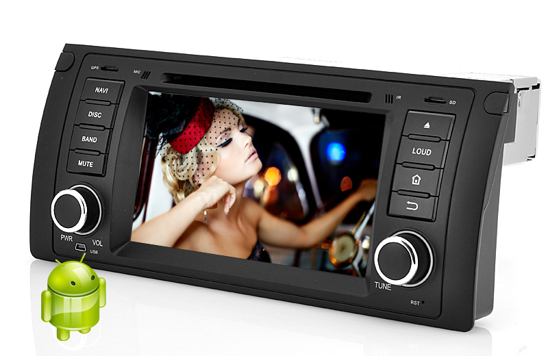 1 DIN Android 4.2 Car DVD Player for BMW E39 - 7 Inch Touch Screen, Rockchip Cortex A9 Dual Core CPU, GPS, 8GB Internal Memory