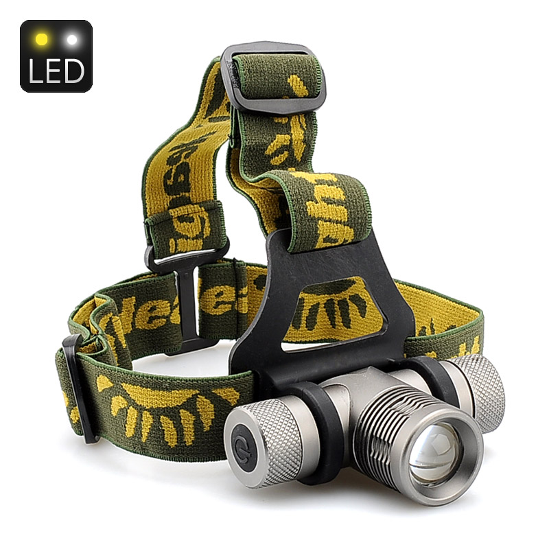 Cree XM-L Q5 LED Headlamp - 500 Lumens, 3 Mode Support, Zoom, 3 Color Lens