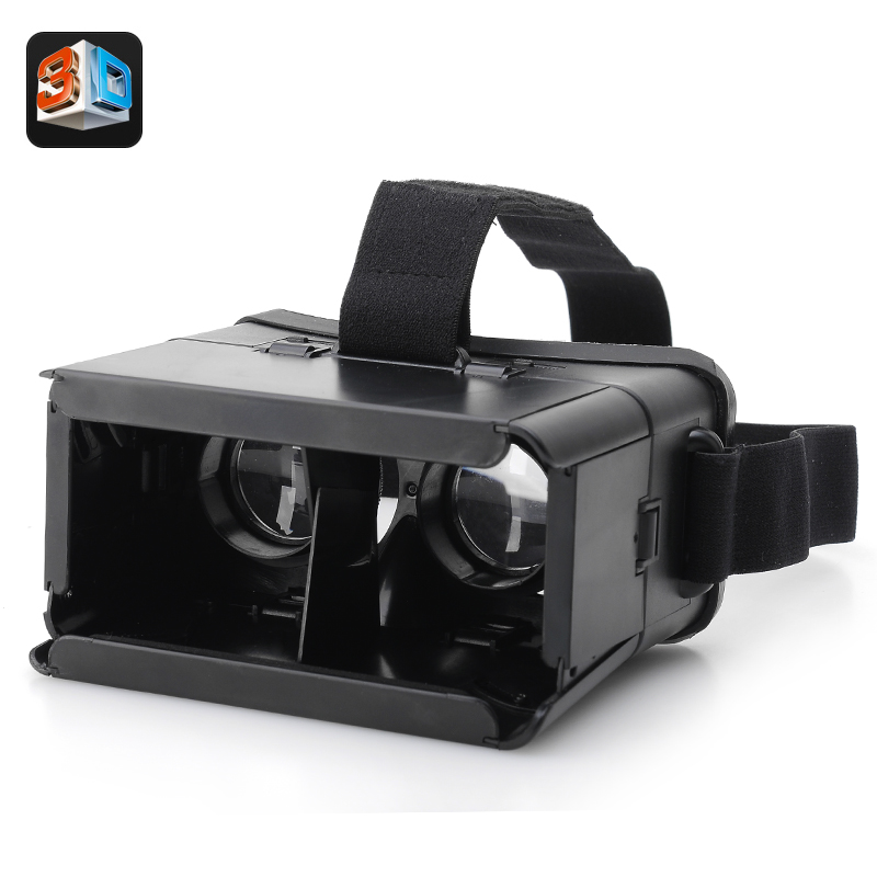 VR 3D Glasses For Smartphones 'Revelation' - Adjustable Pupillary Distance, Adjustable Strap, Fits 4 To 7 Inch Smartphone
