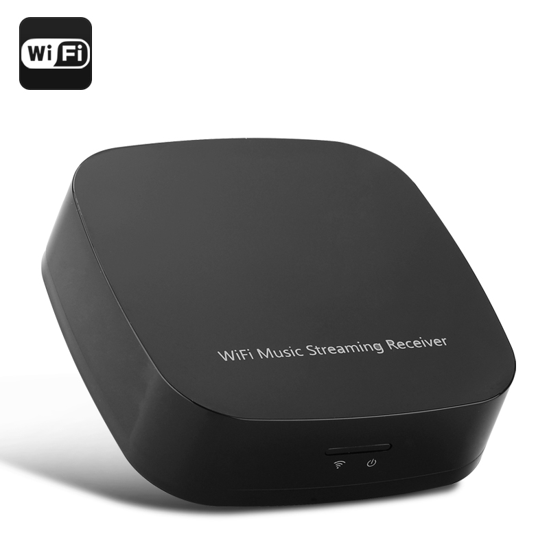 Wireless Wi-Fi Music Streaming Receiver - Supports DLNA/Airplay/Qplay Hi-Fi Music Sharing