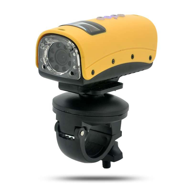 Waterproof HD Sports Camera 'Cichlid' - 720p, 8 LEDs, HDMI Output, 140 Degree Wide Angle Lens