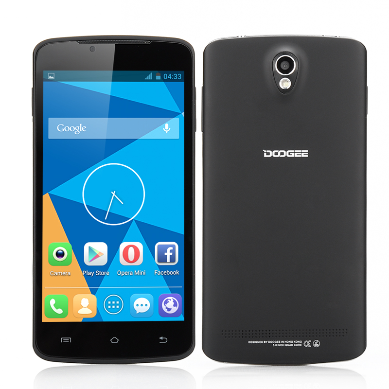 DOOGEE MINT DG330 Android Phone - MTK6582 Quad Core CPU, 5 Inch 854x480 IPS Capacitive Screen, 1GB RAM, 4GB ROM (Black)