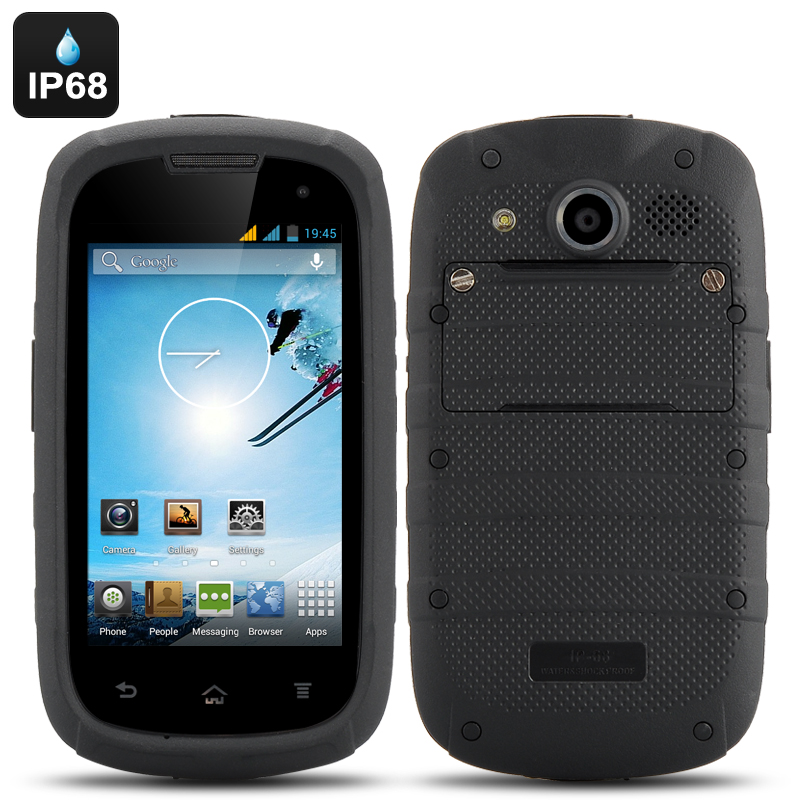 4 Inch Android 4.2 Rugged Phone - Dual Core CPU, IP68 Waterproof + Dust Proof Rating