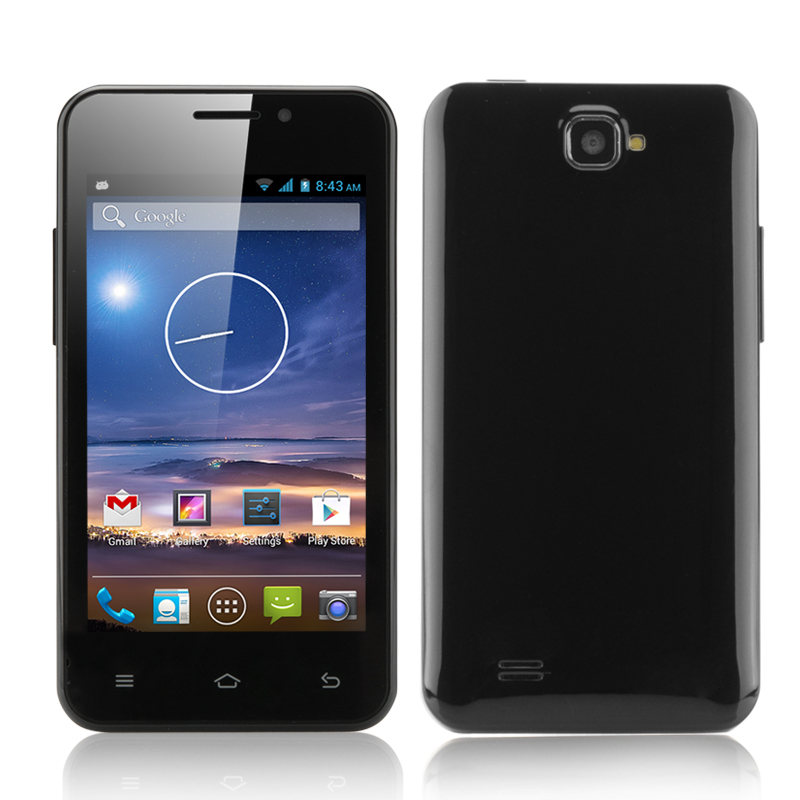 4 Inch Android 4.2 Smartphone 'Tegu' - 2x SIM Card Slots, MTK6572 Dual Core CPU (Black)
