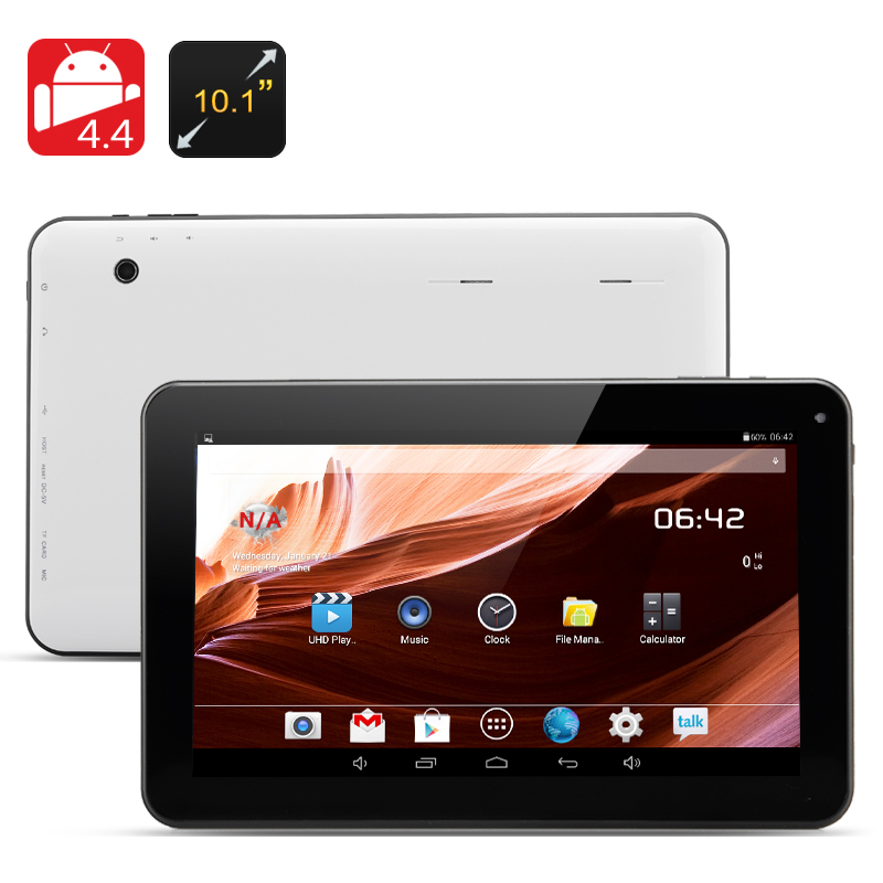 10.1 Inch Android 4.4 Tablet 'Siberian II' - A23 Cortex A7 Dual Core CPU, 10 Point Capacitive Touch Screen Display, 8GB Memory