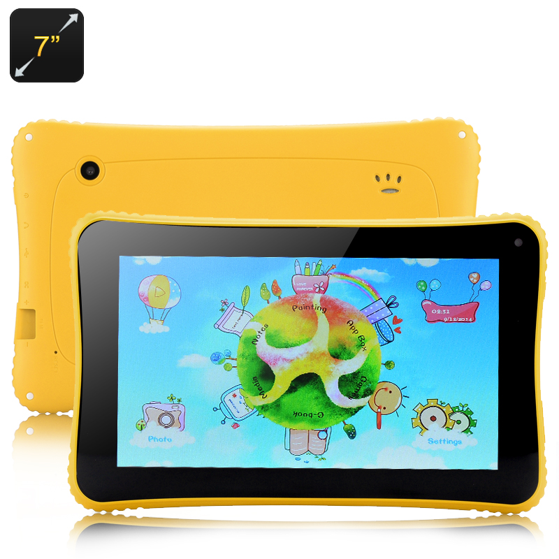 Venstar K7 Android Children's Tablet - 4.2 OS, 7 Inch, RK3026 Cortex A9 Dual Core Processor (Yellow)