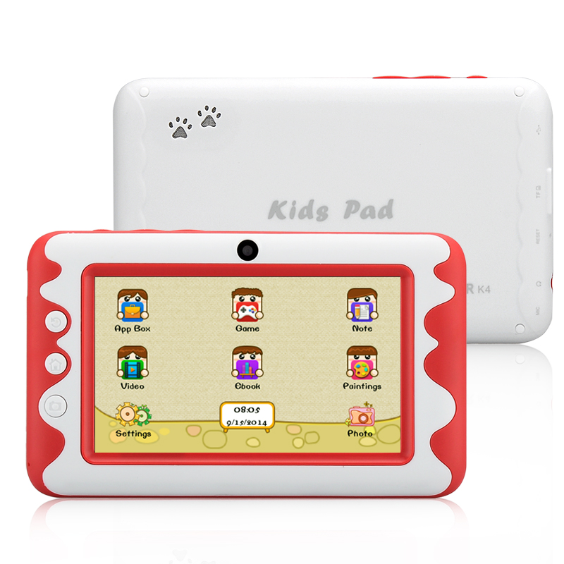 Venstar K4 Childrens Tablet - 4.3 Inch, Android 4.2, Dual Core Cortex A9 (Red)