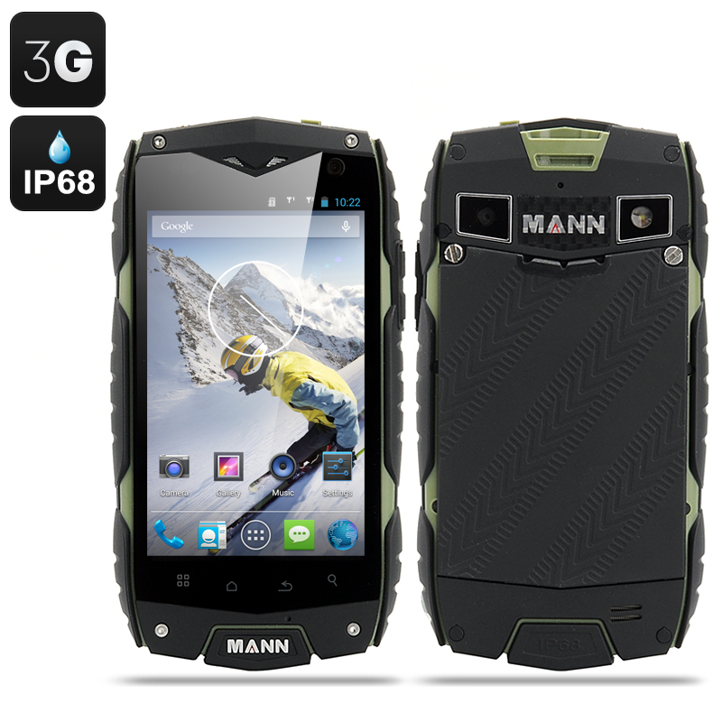 MANN ZUG 3 Android 4.3 Smartphone - 4 Inch Display, Waterproof, Shockproof, Dust Proof (Green)