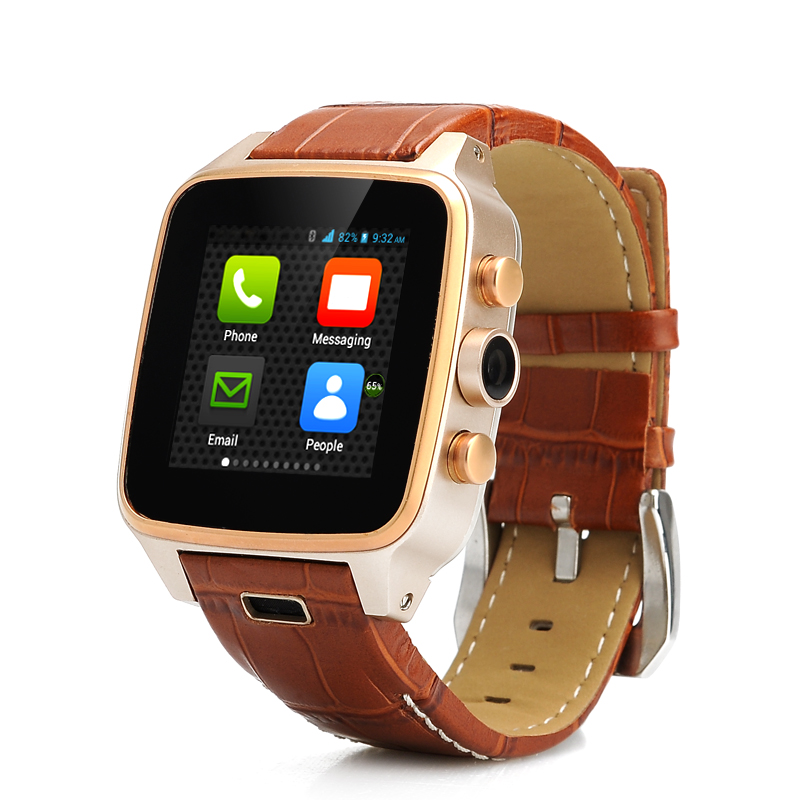 Hi-PEEL HI8 Smartwatch - 1.63 Inch, Dual Core 1.3GHz, 512M RAM, 4GB Memory, 5MP Camera, Leather Strap, Stainless Steel Case