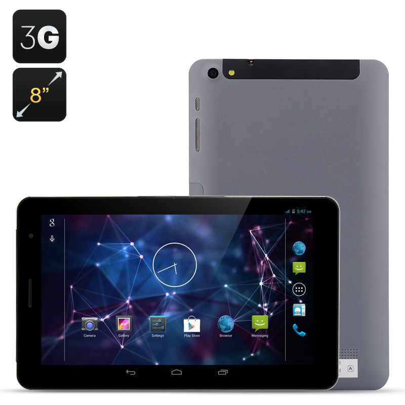 8 Inch Android 4.2 3G Tablet - MTK8382 Quad Core, IPS Screen, 1GB RAM, 16GB ROM