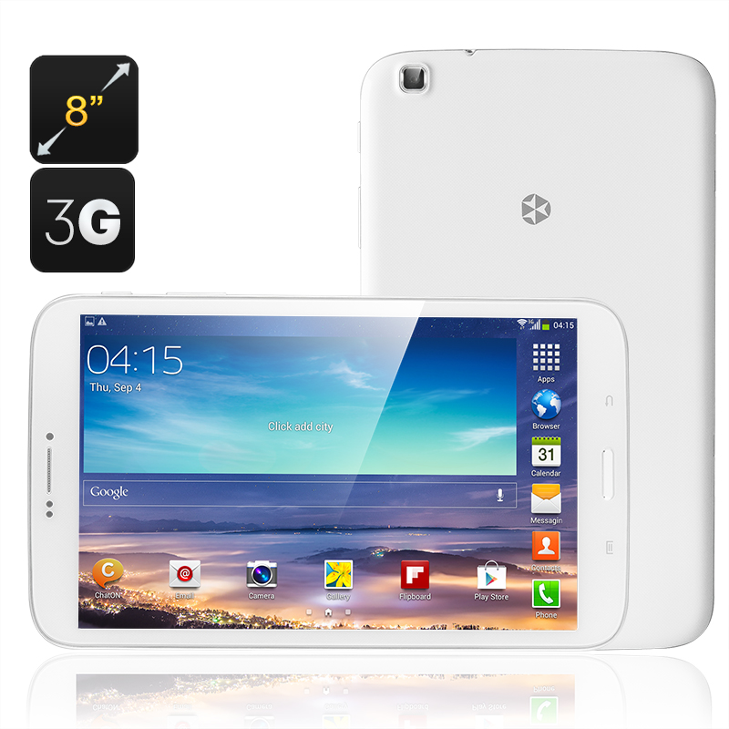 KingZone KingPad 1 Tablet - 8 Inch Touch Screen Display, MTK6582 Quad Core CPU, 3G, Android 4.3 Jelly Bean OS