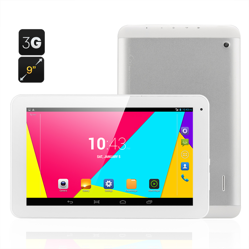 ICOO D9 Android Tablet - 3G, 9 Inch Display, MTK8312 Dual Core CPU, 2x SIM Card Slots