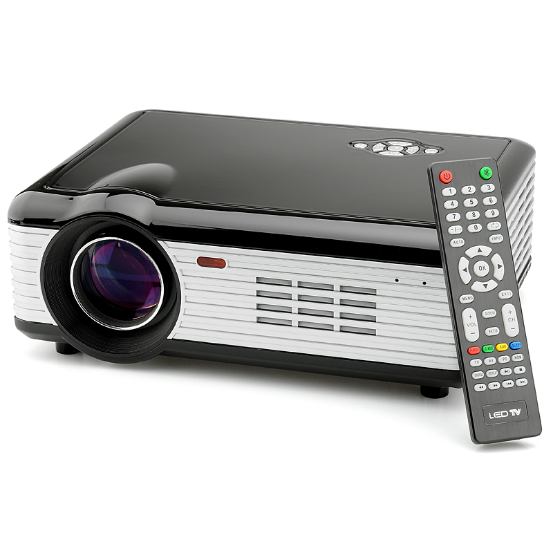 HD 1280x768 LED Projector - 5.5 inch TFT LCD Polycrystalline Silicon Active Matrix, 800 Lumens, 2000 To 1 Contrast Ratio